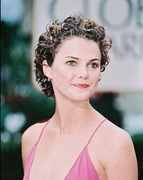 Keri-Russell's-Curly-Short-Hairstyle Celebrity Short Curly Hairstyles