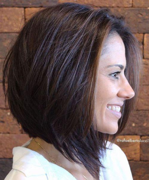Layered-Cut New Ideas Short Haircuts for Thick Hair