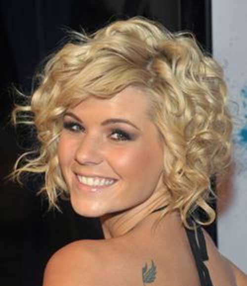 Layered-Short-Thick-Curly-Hairstyle Best Short Thick Curly Hairstyles