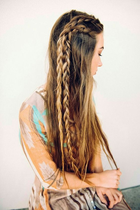Long-Hair-with-Braids Adorable Hairstyles for Long Hair