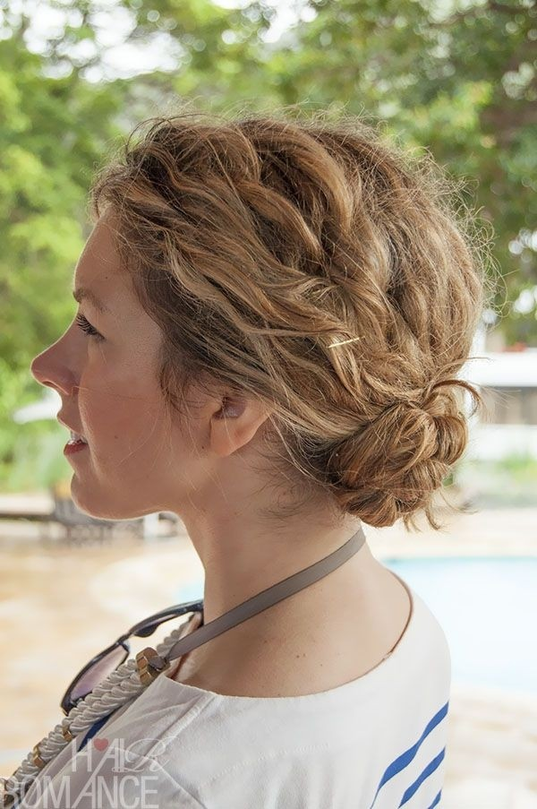 Loose-Bun-Braid-in-Curly-Hairstyle Worth Trying Curly Hairstyles with Braids