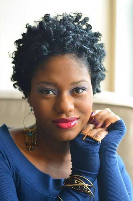 Lovely-Super-Short-Curly-Haircut Super Short Haircuts for Black Women