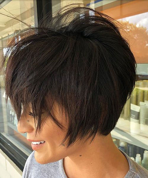 Messy-Hairstyle New Ideas Short Haircuts for Thick Hair