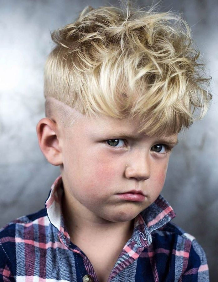 Messy-Top-Curled-Haircut Stylish and Trendy Boys Haircuts 2019
