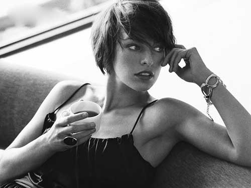 Milla-Jovovich's-Attractive-Short-Hairstyle Short Hairstyles 2019 Trends