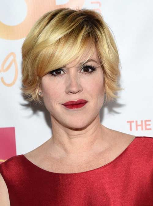 Molly-Ringwald's-Short-Blonde-Hairstyle Short Hairstyles 2019 Trends