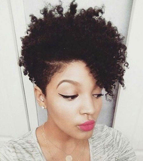 Natural-Curly-Hair Best Natural Hairstyles for Short Hair for Women