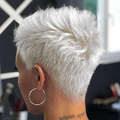 Pixie-Back-View Super Short Blonde Pixie Cuts