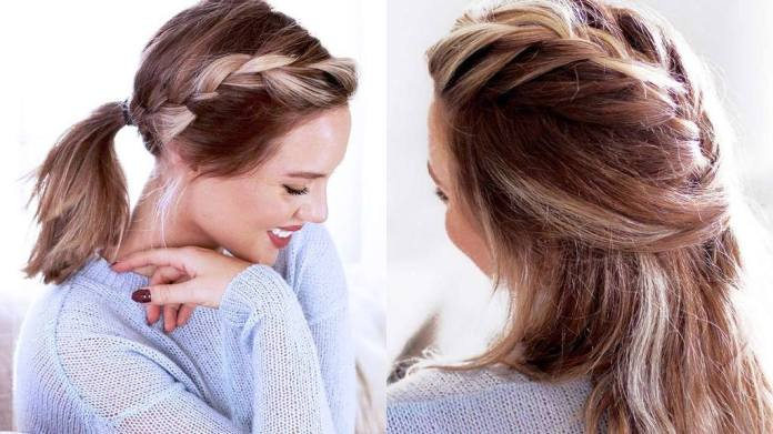 Plait-and-Pony-in-Love Top Trending Medium Hairstyles for Girls
