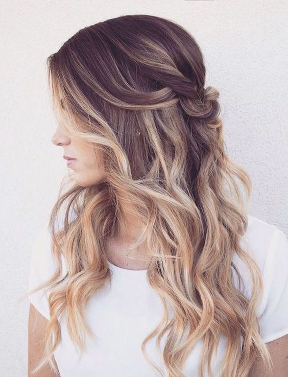 Pull-Back-Your-Hair Ways to Rock Rooty Hair – Trendy Ombre Balayage Hairstyles