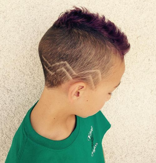 Purple-Mohawk-with-Zig-Zags Really Cute Haircuts for Your Baby Boy