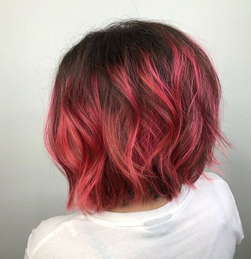 Red-Hair Best Short Hair Color Ideas and Trends for Girls