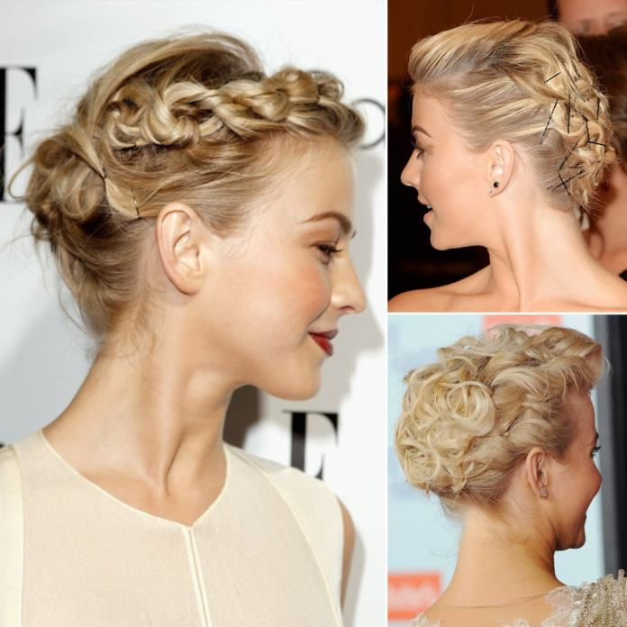 Rose-Rolled-Braid-Hairstyle Ravishing and Roaring Julianne Hough Hairstyles