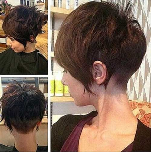 Shaved-End-Pixie-Short-Hairstyle Short Hairstyles 2019 Trends