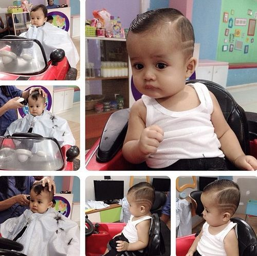Shaved-Lines Really Cute Haircuts for Your Baby Boy