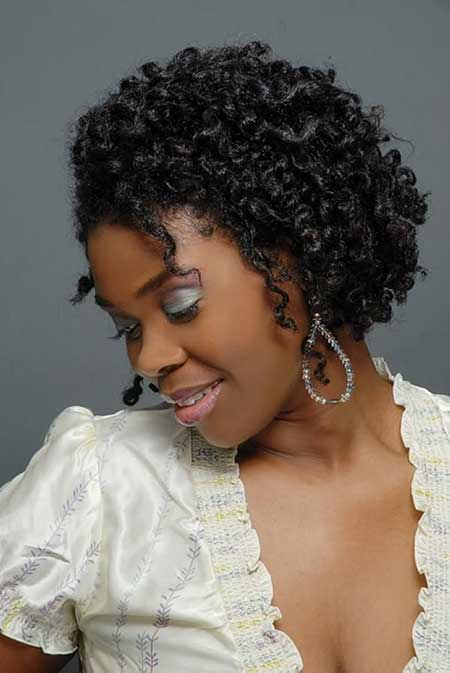 Short-Haircut-with-Curly-Strands-of-Hair Super Short Haircuts for Black Women