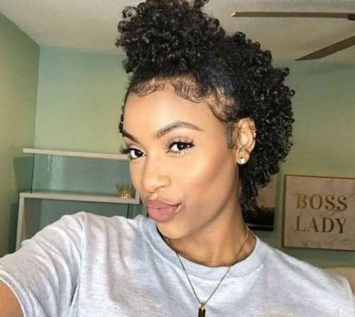 Short-Natural-Hairstyle-for-Black-Women Best Natural Hairstyles for Short Hair for Women