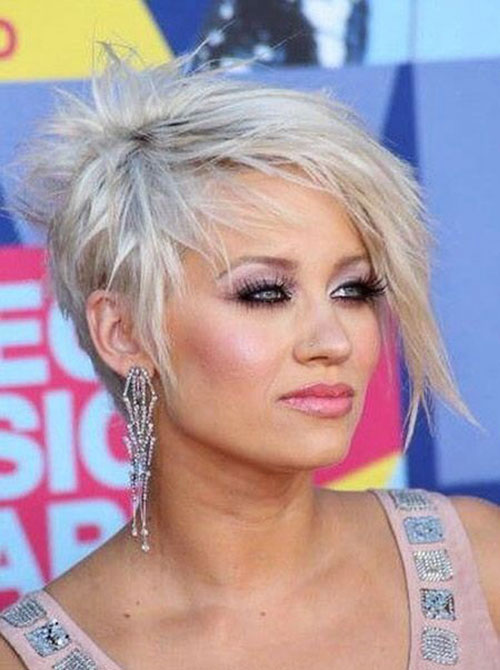 Short-Platinum-Blonde-Pixie Latest Edgy Pixie Haircuts