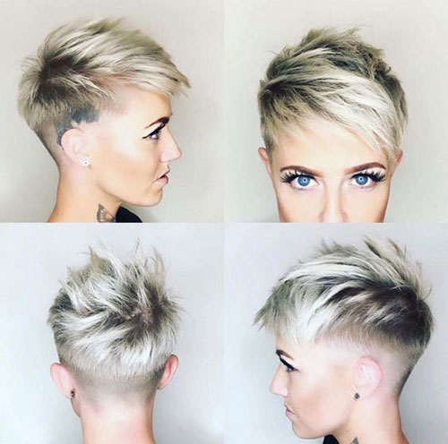 Short-Shaved-Hairstyle-for-Women Latest Edgy Pixie Haircuts