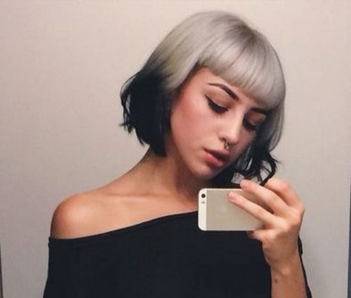 Short-Silver-Hair-for-Girls Best Short Hair Color Ideas and Trends for Girls