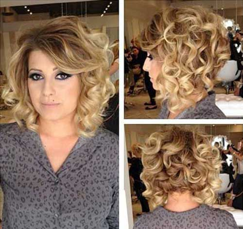 Short-Thick-Blonde-Curly-Hairstyle Best Short Thick Curly Hairstyles