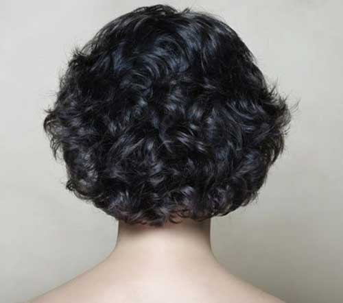 Short-Thick-Curly-Hairstyle-Back-Look Best Short Thick Curly Hairstyles