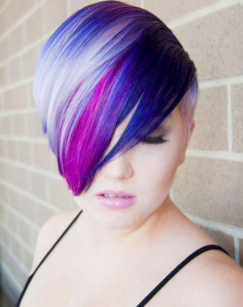 Short-multi-colored-hair Best Short Hair Colors