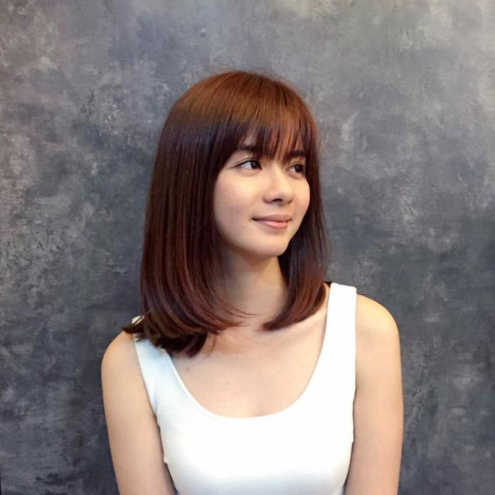 Shoulder-Bob-with-Fringes Top Trending Medium Hairstyles for Girls