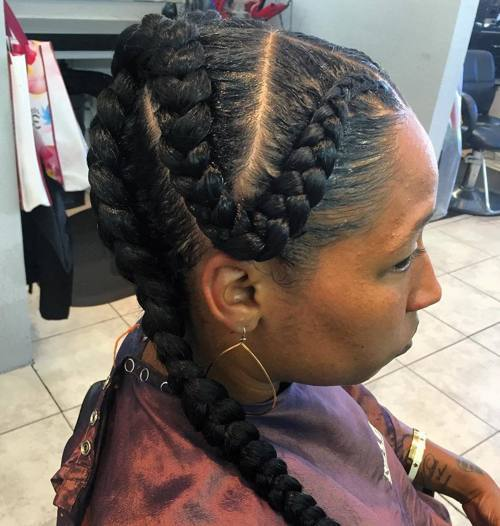 Snaking-Braid Best Goddess Braids for Women – Goddess Braids Ideas