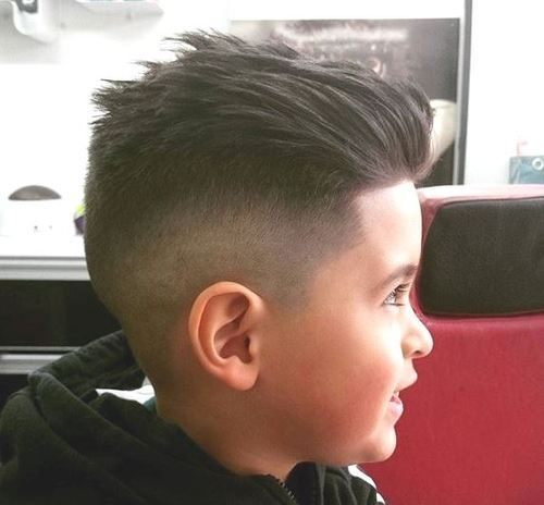 Swept-Back-with-Angled-Lines Really Cute Haircuts for Your Baby Boy