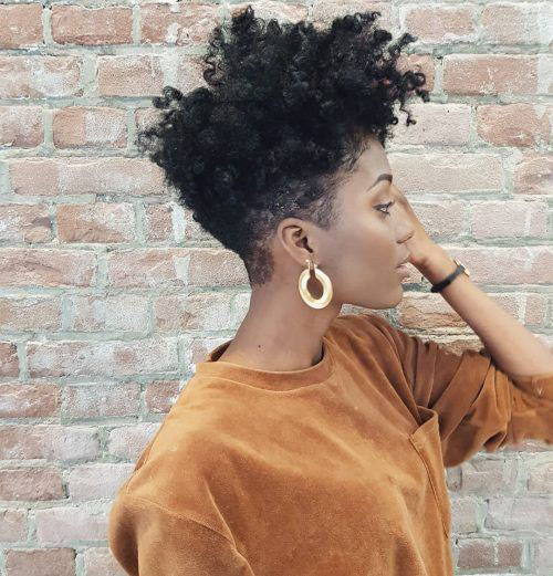 Tapered-Short-Natural-Hairstyle Best Natural Hairstyles for Short Hair for Women