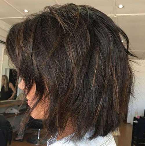 Thick-Layered-Short-Hair New Modern Short Haircuts for 2019