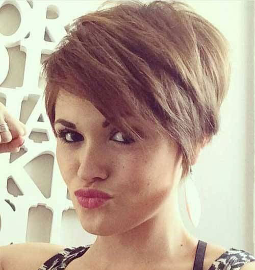 Thick-Light-Brown-Pixie Ideas About Short Pixie Haircuts for Women