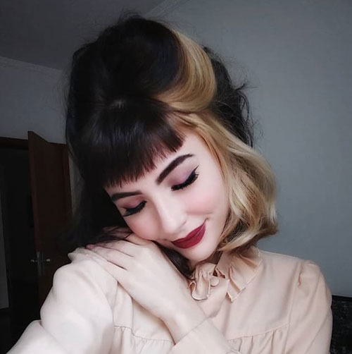 Two-Color-Hair Best Short Hair Color Ideas and Trends for Girls