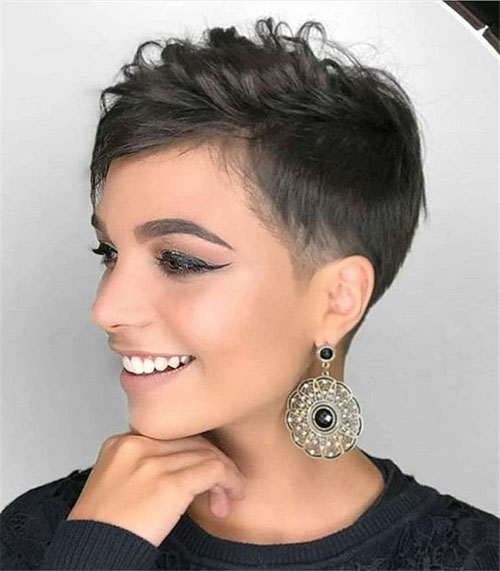 Undercut-for-Women-Short-Hair Latest Edgy Pixie Haircuts
