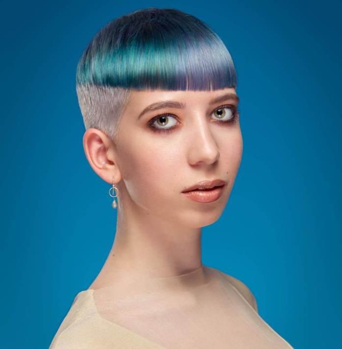 Unicorn-Shade-Chopped-Fringe Marvelous Modern Short Haircuts for Women