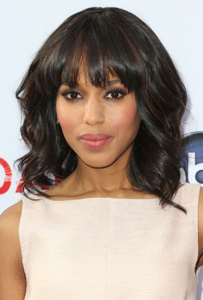 Waves-with-a-Fringe-and-a-Bob Top Trending Medium Hairstyles for Girls