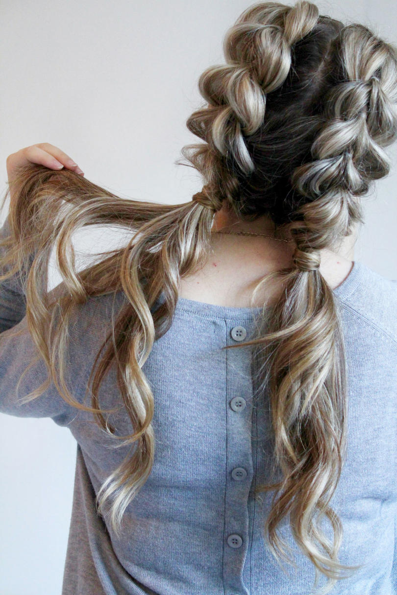 Wider-Braided-Curly-Hairstyle Worth Trying Curly Hairstyles with Braids