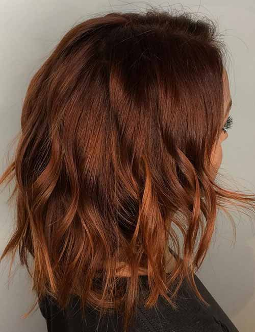Autumnal-Texturized-Layered-Bob Lovely Styling Ideas For Layered Bob Hair