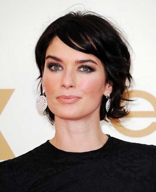 Black-Layered-Short-Haircut-for-Women-Over-40 Short Hair For Over 40