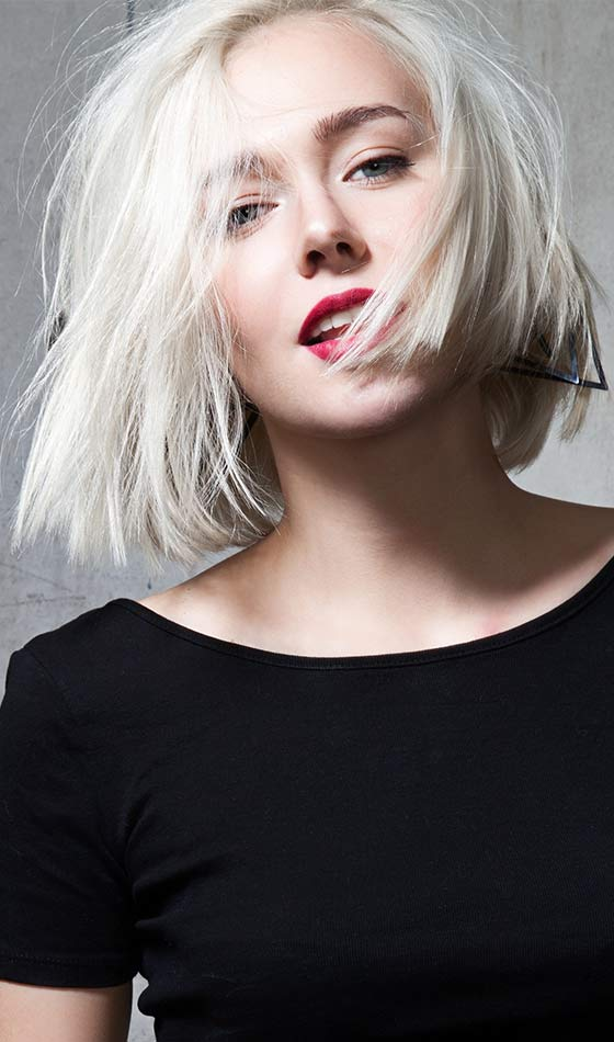 Blunt-Choppy-Lob Short Choppy Hairstyles To Try Out Today