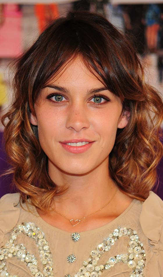 Curls-With-Mid-Parted-Bangs Short Choppy Hairstyles To Try Out Today