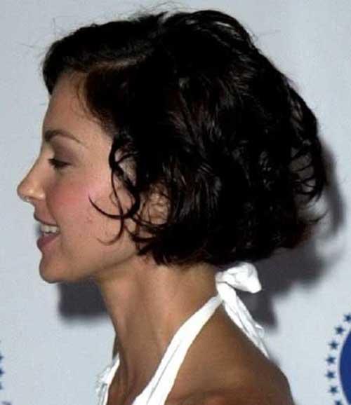 Curly-Dark-Short-Bob-Hair-for-Over-40 Short Hair For Over 40
