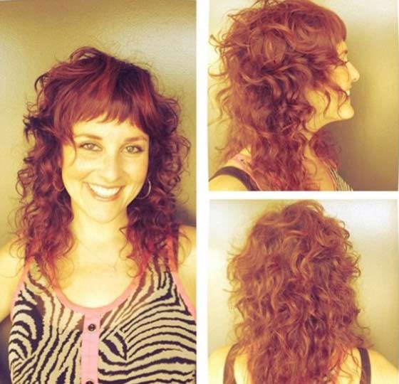 Curly-Layers-With-Halfway-Bangs Layered Hairstyles With Bangs