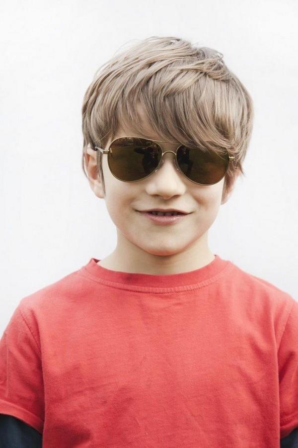 Cute-Bangs-Hairstyle Ultra Dashing Medium Hairstyles for Boys