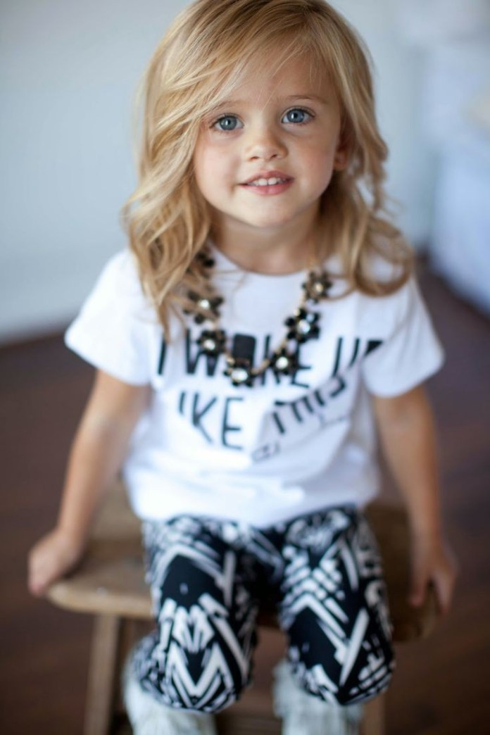 Designer-Lob-Hairstyle Cute and Adorable Little Girl Haircuts