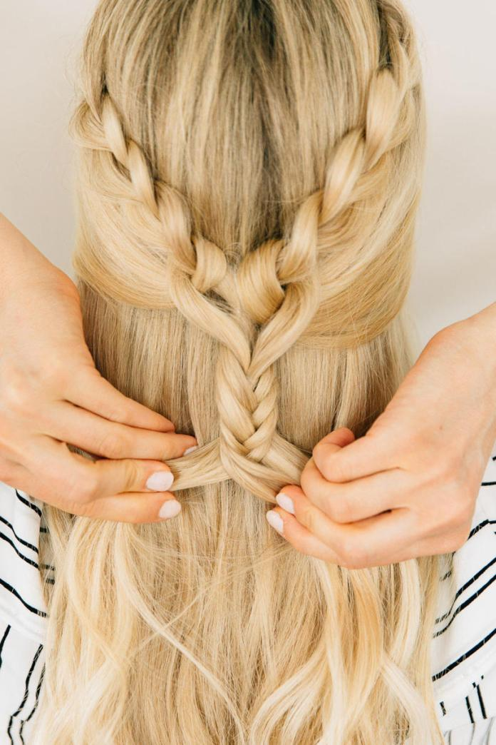 Dramatic-Fishtail-Braid-with-Loose-Hair Most Adorable Long Hairstyles with Braids