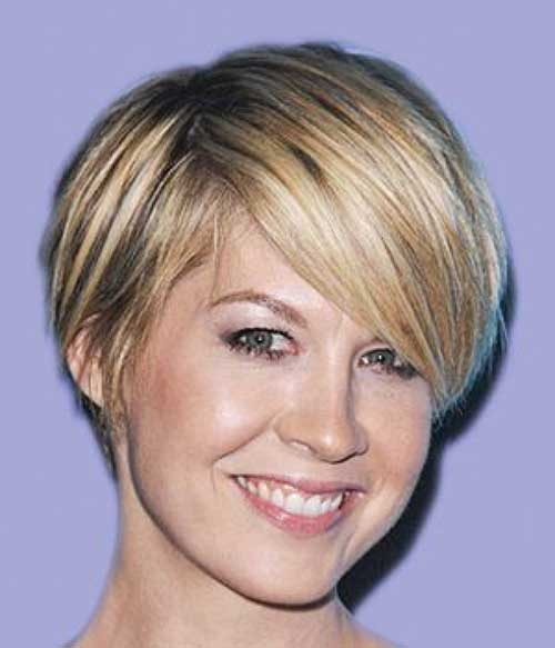 Fine-Short-Hair-with-Side-Bangs-for-Over-40 Short Hair For Over 40