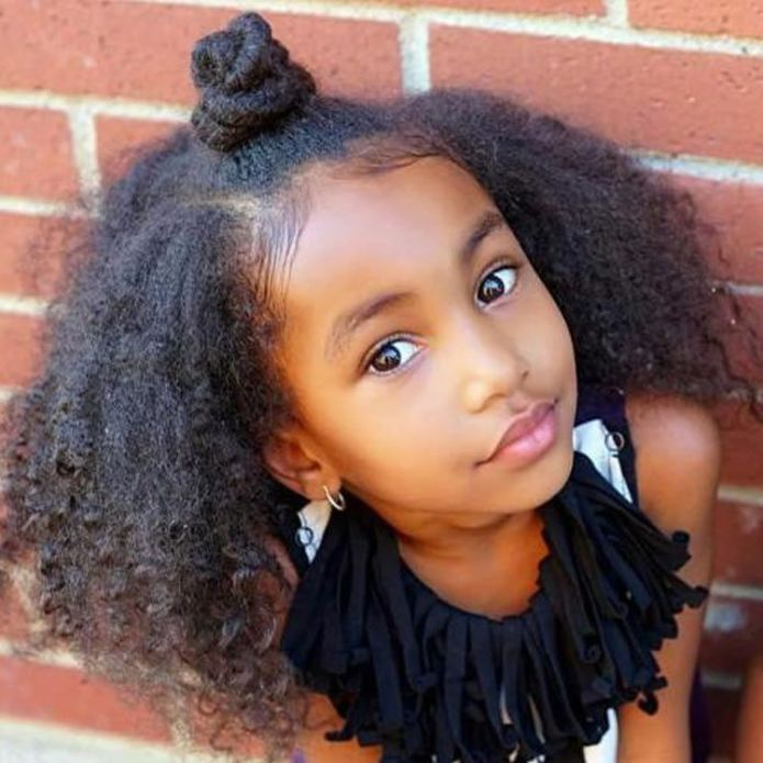 Fluffy-Knot-bun-Hairstyle Cute African American Hairstyles for Gorgeous Look