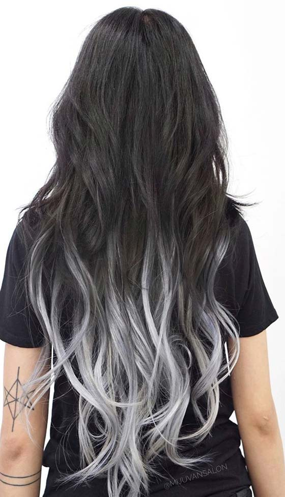 Grey-Ombre-Hair Best and Beautiful Hairstyles with Color